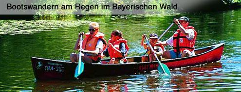 Bootswandern am Regen im Bayerwald