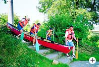 Bootswandern zwischen Blaibach und Regenburg im Bayerischen Wald