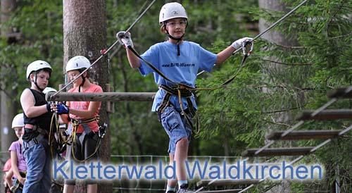Kletterwald Waldkirchen Kletterpark Aktivurlaub