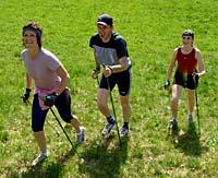Nordic Walking  im Urlaub in Bayern.