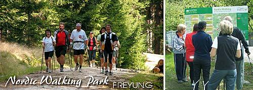 Nordic Walking Park in Freyung im Bayerischen Wald.
