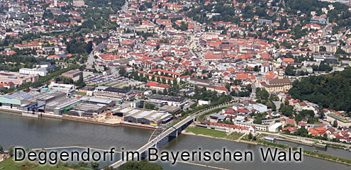 Stadt Deggendorf im Bayerischen Wald
