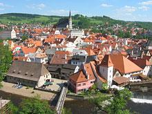 Blick von der Burg auf Krumau Böhmerwald (CZ)