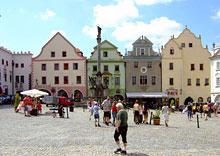 Stadtplatz Krumau Böhmerwald (Nationalpark Sumava, Krummau, Moldaustausee etc.)