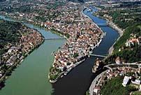 Dreiflüssestadt Passau Österreich Deutschland Tschechien Dreiländereck in Ostbayern