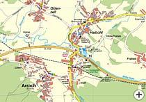 Bayerwald Karte