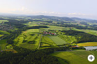 Golfplatz im Passauerland in Niederbayern