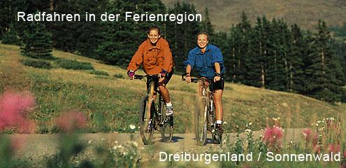 Radfahren in der Freinregion Dreiburgenland/Sonnenwald im Bayer. Wald