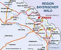 Anfahrtsbeschreibung Bayerwald Arber