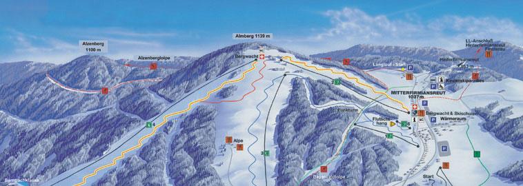 Dreiländereck Bayerischer Wald Karte.Skizentrum Mitterdorf Skigebiete Ausflugstipps Und