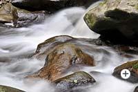 Wildromantische Wildwasser-Klamm Buchberger Leite Bayrischer Wald