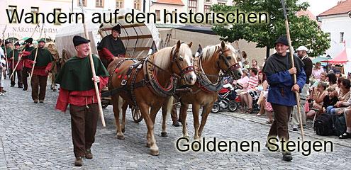 Wandern im Bayerischen Wald Historischer Wanderweg Goldener Steig