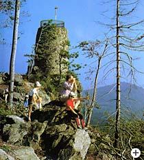 Aussichtsturm am Hirschenstein Bayer. Wald