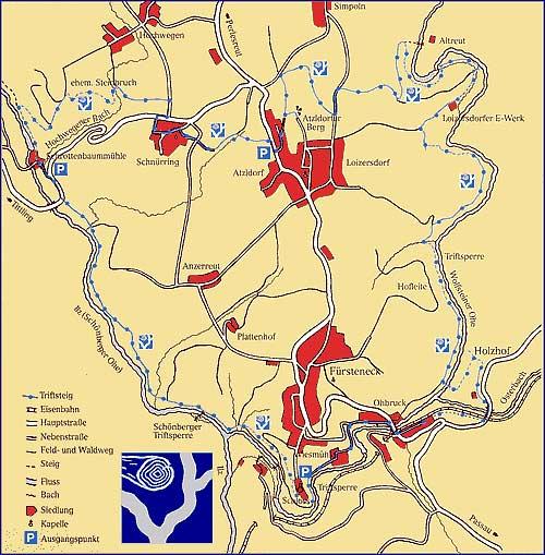 Route Fürsteneck Triftsteig Für weitere Fragen und Informationen wenden Sie direkt an die jeweilige Bayerwaldgemeinde.
